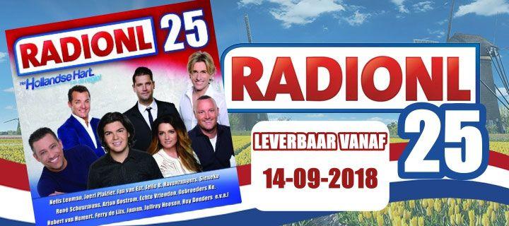 RadioNL 25, verkrijgbaar vanaf 14-09-2018